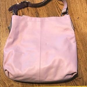 Lavender soft leather purse